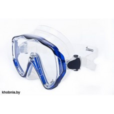 Маска Okuliator прозрачный силикон синяя рамка Corrall M-45CB
